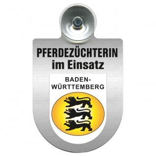 Einsatzschild mit Saugnapf Pferdezüchterin im Einsatz 393832 Region Baden-Württemberg