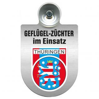 Einsatzschild Windschutzscheibe incl. Saugnapf - Geflügelzüchter im Einsatz - 309362-13 Region Thüringen