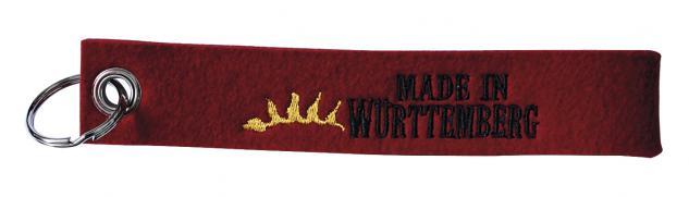 Filzschlüsselanhänger mit Motiv - MADE IN WÜRTTEMBERG - Gr. ca. 19x3cm - 14197 - Keyholder mit Stick