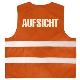 Warnweste mit Aufdruck - AUFSICHT - 10322 versch. Farben Gr. S-4XL - Vorschau 2