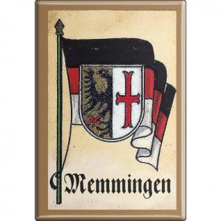 Küchenmagnet - Wappen Memmingen - Gr. ca. 8 x 5, 5 cm - 37536 - Magnet Kühlschrankmagnet