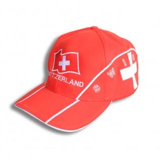 Baseballcap Schweiz Switzerland Kreuz Wappen Emblem - 69367