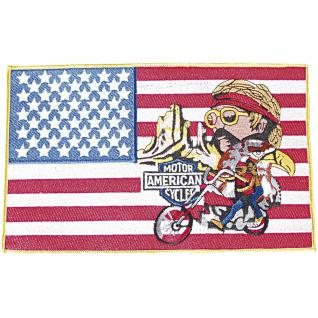 Rückenaufnäher - Motor American Cycles - 08072 - Gr. ca. 25 x 15, 5 cm - Patches Stick Applikation