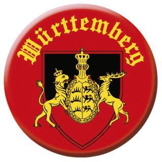 Button Anstecknadel - WÜRTTEMBERG - 03700 - Gr. ca. 2, 5 cm - mit Aufdruck - Vorschau 1