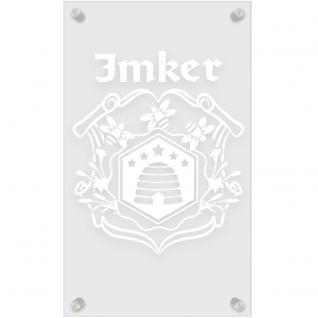 Zunftschild Acryl-Kunststoffplatte - IMKER - 309455 versch. Farben - weiß