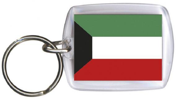 Schlüsselanhänger Anhänger - KUWAIT - Gr. ca. 4x5cm - 81089 - Keyholder WM Länder