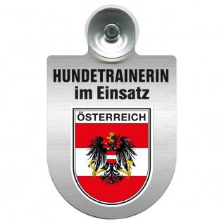 Einsatzschild mit Saugnapf Hundetrainerin im Einsatz 309379/1 Region Österreich