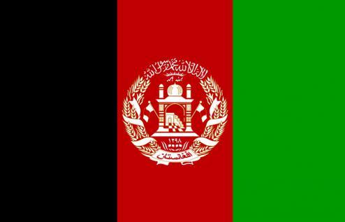 Autoländerfahne - Afghanistan - Gr. ca. 40x30cm - 78005 - Länderflagge mit Klemmstab, Flag for Car