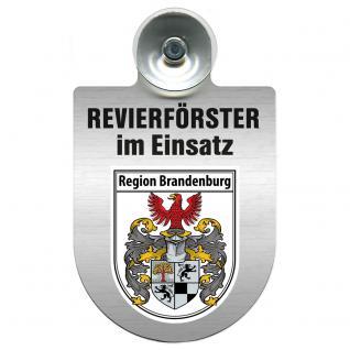 Einsatzschild Windschutzscheibe incl. Saugnapf - Revierförster im Einsatz - 309376-4 - Region Brandenburg