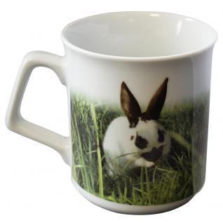 Tasse Kaffeebecher mit Print Kaninchen Hasen 57506