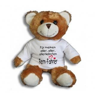 Teddybär mit T-Shirt - für meinen aller aller allerliebsten Fern-Fahrer Gr. ca. 26 cm - 27009