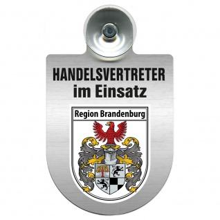 Einsatzschild Windschutzscheibe incl. Saugnapf - Handelsvertreter im Einsatz - 309367 Region Brandenburg