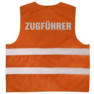 Warnweste mit Aufdruck - ZUGFÜHRER - 10348 orange - Gr. 2XL
