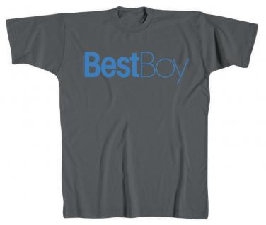 T-SHIRT unisex mit Print - Best Boy - 10494 dunkelgrau - Gr. XXL