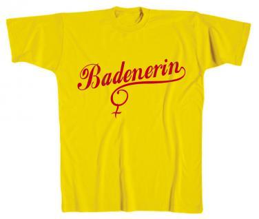 T-Shirt Print - Badenerin - 10447/1 gelb Gr. S-2XL