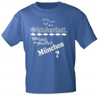 T-Shirt mit Print - Oktoberfest München - 09069 blau - Gr. L