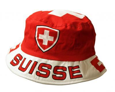Sommerhut mit Einstickung - Schweiz Suisse - 77666