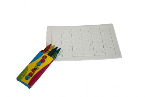 ausmalbares Puzzle - mit Stiften - Motiv Bienen - 27264