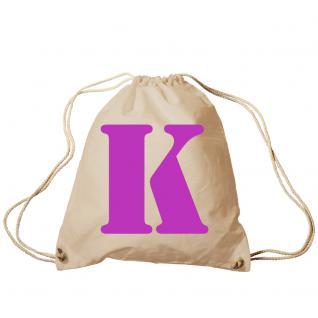 """Trend-Bag Turnbeutel Sporttasche Rucksack mit Print """" K"""" 65091-K"""