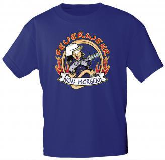 Kinder T-Shirt mit Print - Feuerwehr von morgen - 06936 - royalblau - Gr. 122/128