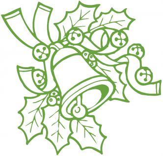 """Wandtattoo/ Dekorfolie mit Motiv """" Zweig mit Glocke"""" Ø 90cm Länge max. 100 cm, in 11 Farben WD0801 grün"""