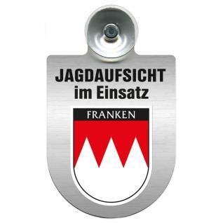 Einsatzschild Windschutzscheibe incl. Saugnapf - Jagdaufsicht im Einsatz - 309370-18 -Region Franken