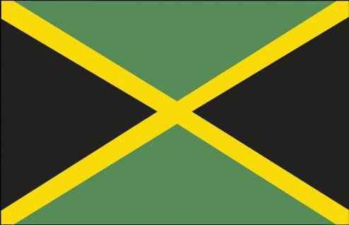 Dekoflagge Stockländerfahne - Jamaika - Gr. ca. 40x30cm - 77071 - Flagge