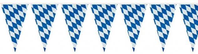 Wimpelkette - bayrisches Rautendesign - Gr. ca. 10 cm - 07739