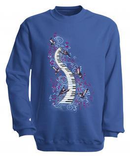 S-Shirt mit Print - Klavier - 09018 - versch. farben zur Wahl - Gr. Royal / XXL