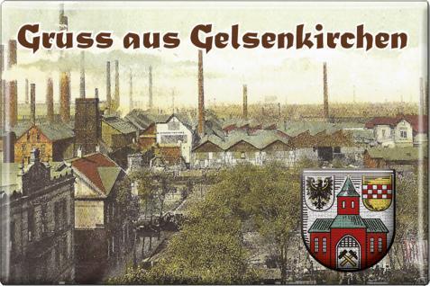 Küchenmagnet - Gruss aus Gelsenkirchen - Gr. ca. 8 x 5, 5 cm - 38278 - Magnet Kühlschrankmagnet