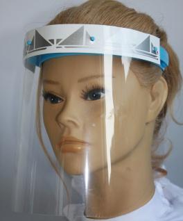 Klarsicht Gesichtschutz Gesichtsvisier aus Kunststoff mit Aufdruck - Segelschiff