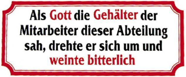 PVC Aufkleber Fun Auto-Applikation Spass-Motive und Sprüche - Als Gott die... - 303375 - Gr. ca. 17 x 8 cm
