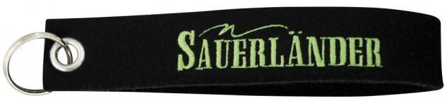 Filz-Schlüsselanhänger mit Stick Sauerländer Gr. ca. 17x3cm 14191 schwarz