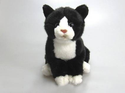 Stofftier - Kuscheltier - Plüschtier - Spielzeug - Katze schwarz - Größe ca 30 cm - 39731