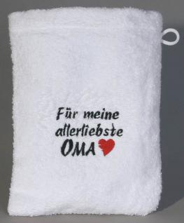 Waschhandschuh - Waschlappen - für meine allerliebste Oma - 31201 - ca 20 x 16 cm
