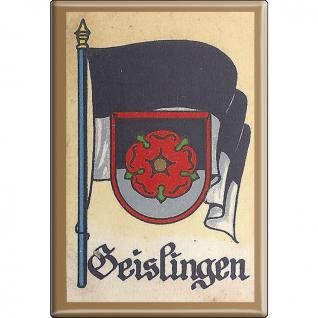 Küchenmagnet - Wappen Geislingen - Gr. ca. 8 x 5, 5 cm - 37523 - Magnet Kühlschrankmagnet