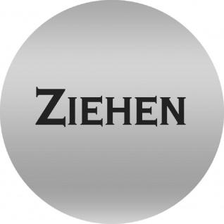 PVC-Aufkleber - Ziehen - Durchmesser 70 mm - 302008/1 silber
