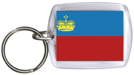 Schlüsselanhänger Anhänger - LICHTENSTEIN - Gr. ca. 4x5cm - 81094 - Keyholder WM Länder
