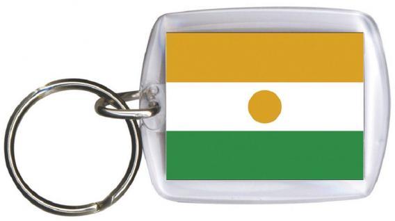 Schlüsselanhänger Anhänger - NIGER - Gr. ca. 4x5cm - 81120 - Keyholder WM Länder
