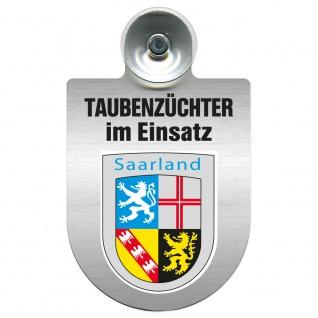 Einsatzschild Windschutzscheibe incl. Saugnapf - Taubenzüchter im Einsatz - 309385 Region Saarland