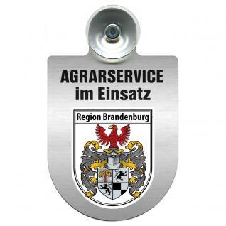 Einsatzschild für Windschutzscheibe incl. Saugnapf - Agrarservice im Einsatz - 309739-4 Region Brandenburg