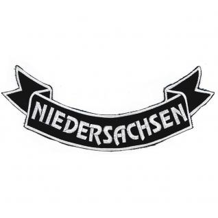 Aufnäher Rückenaufnäher - Niedersachen - 07356/2 - Gr. ca. 28 x 11 cm - Patches Stick Applikation