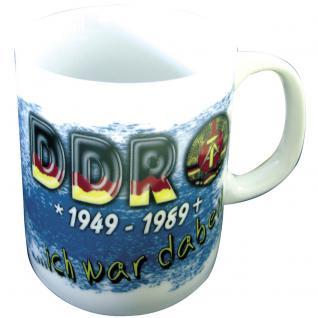 Tasse mit Print DDR Ich war dabei 57334 weiß Gr. ca. 75 x 90 mm
