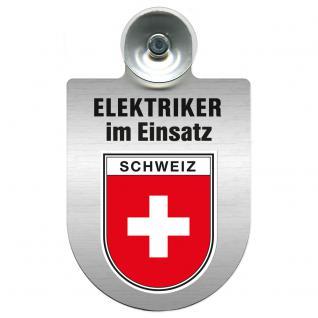 Einsatzschild für Windschutzscheibe incl. Saugnapf - Elektriker im Einsatz - 309489-22 Region Schweiz