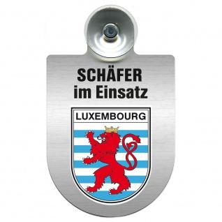 Einsatzschild Windschutzscheibe incl. Saugnapf - Schäfer im Einsatz - 309387 - Region Luxembourg