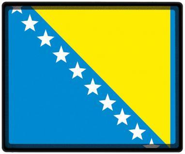 Mousepad Mauspad mit Motiv - Bosnien Fahne Fußball Fußballschuhe - 82028 - Gr. ca. 24 x 20 cm