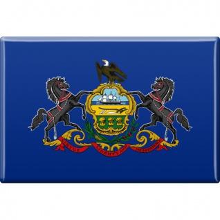 Magnet - US-Bundesstaat Pennsylvania - Gr. ca. 8 x 5, 5 cm - 37138 - Küchenmagnet