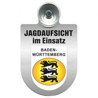 Einsatzschild Windschutzscheibe incl. Saugnapf - Jagdaufsicht im Einsatz - 309370-1 - Region Baden-Württemberg