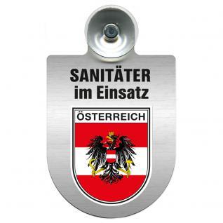 Einsatzschild Windschutzscheibe incl. Saugnapf - Sanitäter im Einsatz - 309396- Regionen nach Wahl Region Österreich