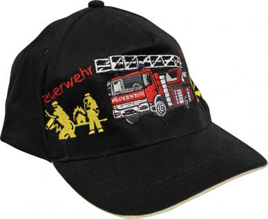 Kinder BaseCappy mit Feuerwehr-Bestickung - Feuerwehr Löschzug - 68175-1 rot - Baumwollcap Baseballcap Hut Cap Schirmmütze - Vorschau 2